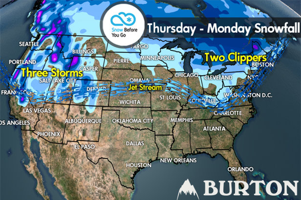 Snow Before You Go: Snow Tracking for Both Coasts ©Meteorologist Chris Tomer