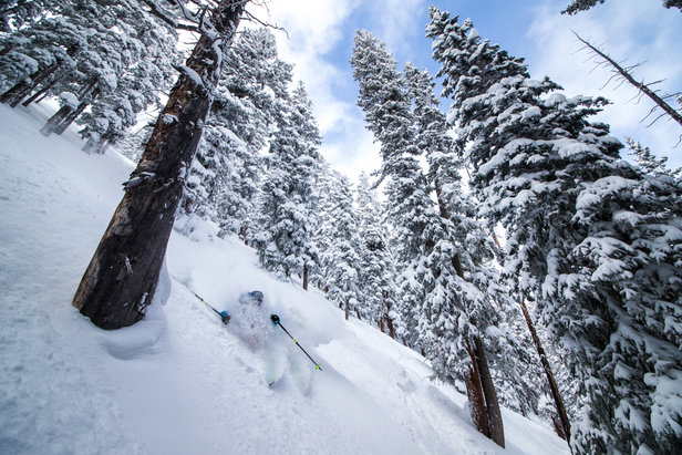 Sven Brunso finds the steep stashes in Taos.