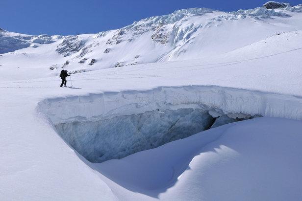 Silvretta-Durchquerung, Unterwegs am Ochsentaler Gletscher