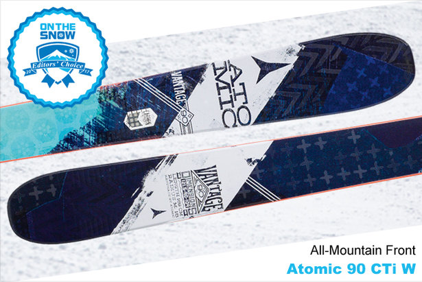 Atomic 90 CTi W, women's 16/17 All-Mountain Front Editors' Choice ski.
