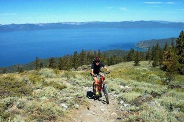 Riding above Lake Tahoe.  - ©Tahoe Rim Trail
