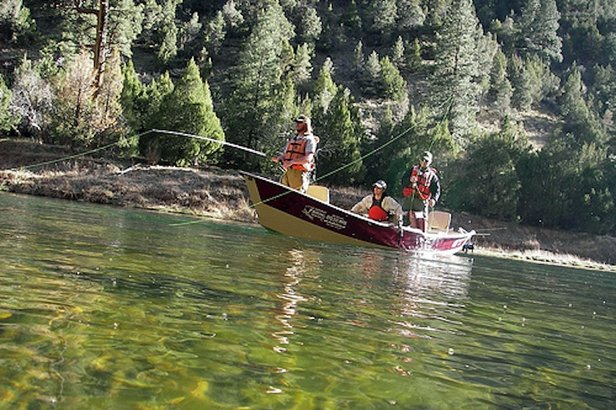 The clear waters of the Colorado River near Winter Park are a favorite for anglers because of it's abundant fish and close proximity to Denver.