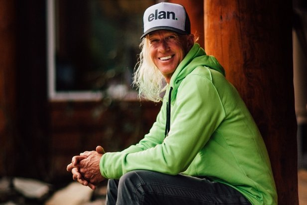 Glen Plake, ski legend and Elan international brand ambassador, helped launch the Ripstick line at White Wilderness Heli Skiing.  - © Kyle Hamilton Photography