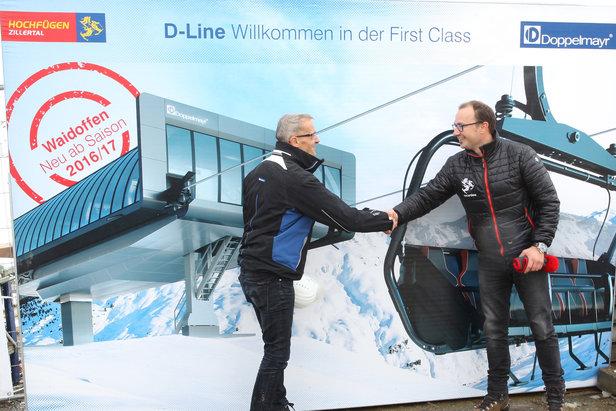 """Hochfügen weltweit erstes Skigebiet mit """"D-Line"""" 6er-Sesselbahn von Doppelmayr- ©Roman Potycanowicz"""