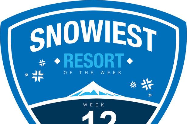 Sneeuwrijkste gebied week 12.