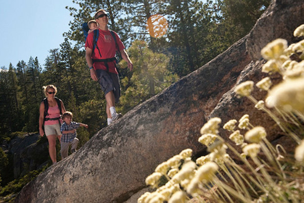 Enjoying the scenic trails with the family at Squaw Valley.   - © Matt Palmer