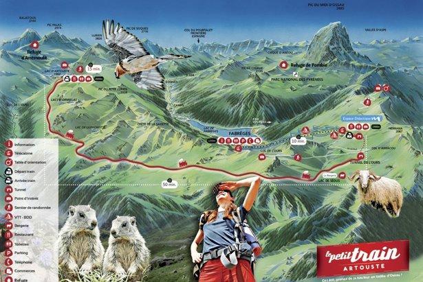 Vyhlídková trasa turistického vláčku Artouste
