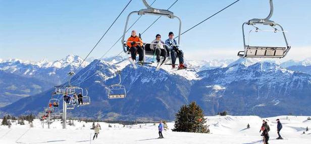 Ski sur le domaine des Aillons-Margériaz