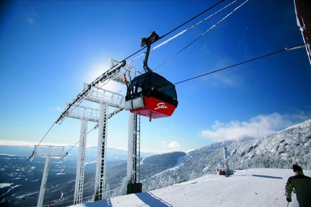 A view of a gondola at Stowe Mountain Resort, Vermont