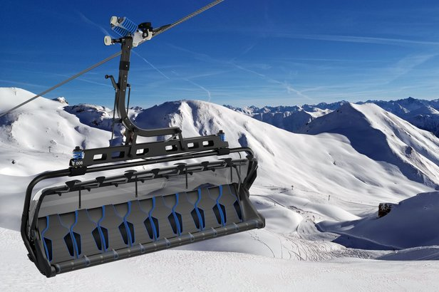 8-sedačková lanovka Visnitz a její hypermoderní design  - © Silvretta Arena AG