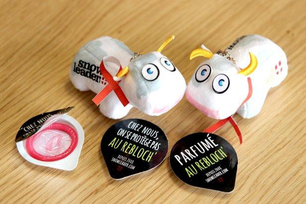 Opération Sidaction avec les préservatifs au reblochon