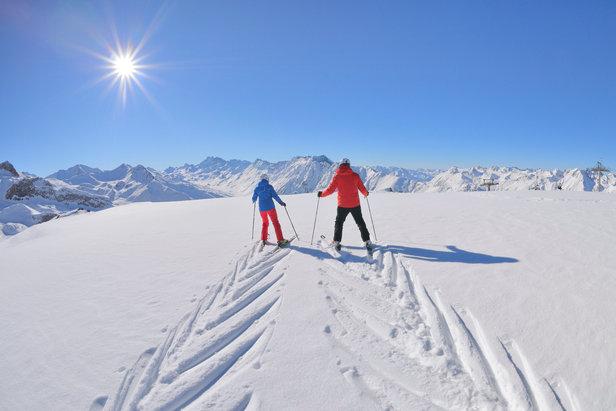 Schneebericht: Frühlingshaftes Skiwetter bis weit in die kommende Woche hinein ©© TVB Paznaun - Ischgl