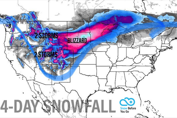 1-2 Foot Snow Totals by Tuesday: 4.11 Snow B4U Go ©Meteorologist Chris Tomer