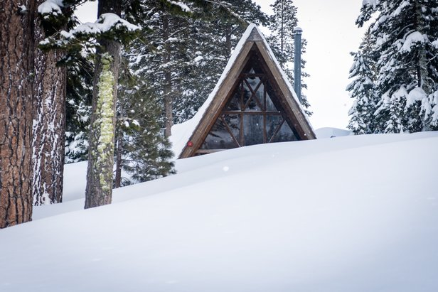 You might think Tahoe locals are tired of digging out their buried driveways and houses, but the all-time conditions keep them shoveling away with a smile.  - © Squaw Valley | Alpine Meadows