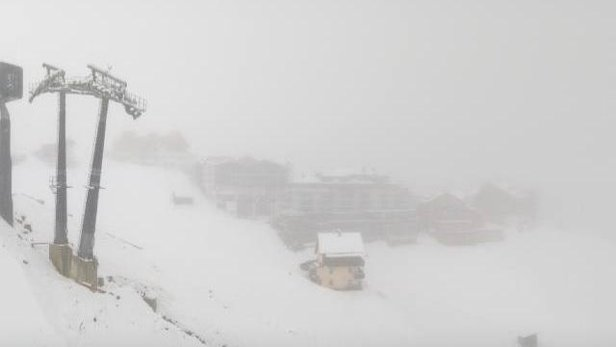 10cm of snow for Solden 8.9.19  - © Solden