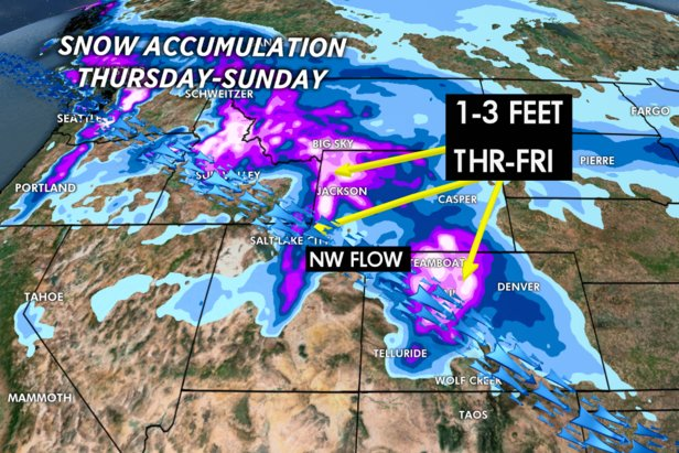 Powerful jet stream delivers heavy snow intermountain west
