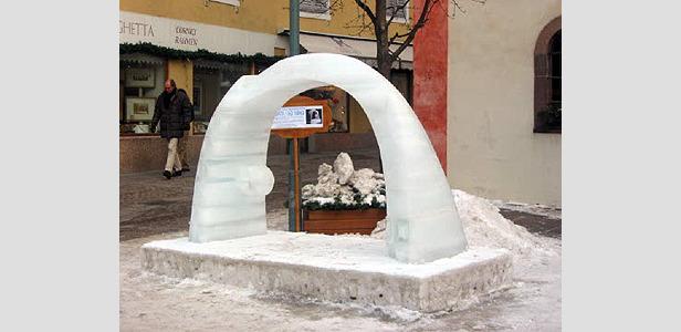 Eisskulpturenwettbewerb in St. Ulrich