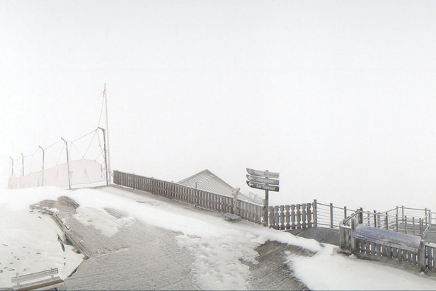 Fresh snow in Alpe d'Huez 15/10/19  - © Alpe d'Huez/Facebook