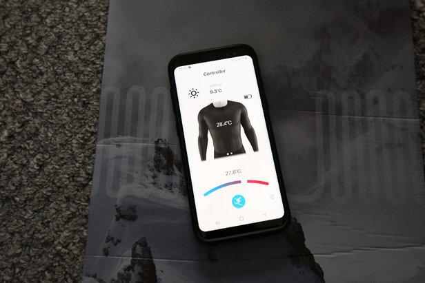 Mit der Clim8-App kann man die Temperaturregulierung des I-Thermic Midlayers steuern