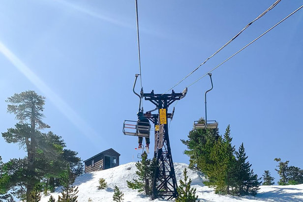 Mt. Baldy re-opens with golf course style 'Ski & Ride Times'Mt. Baldy Instagram