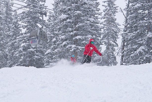 Storm day at Lake Louise.  - © Courtesy of SkiBig3