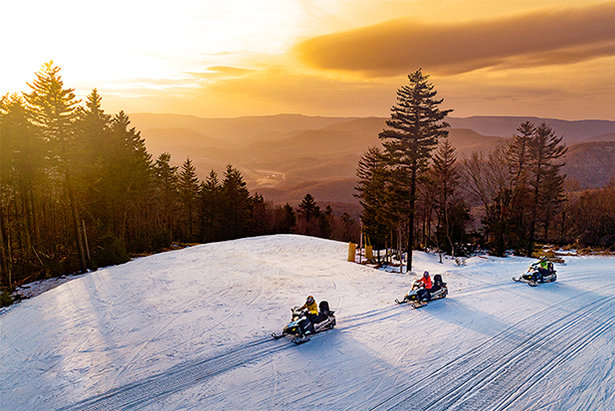 Snowmobiling at Snowshoe Mountain in West Virginia.  - © Snowshoe Mountain