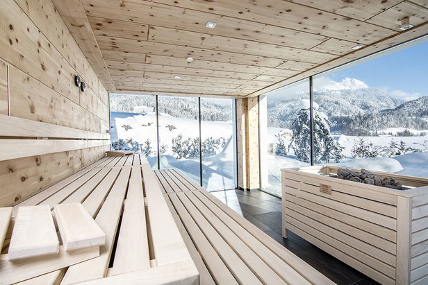 Sauna s fantastickým výhledem - součást wellness v hotelu Puradies