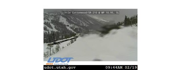 Little Cottonwood during storm UDOT camera  - © UDOT