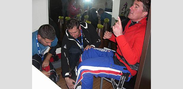 Rocca trifft Flühr beim Weltrekordversuch in Landgraaf- ©Christian Flühr