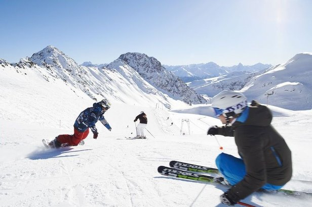 Carving up the slopes in Davos Klosters