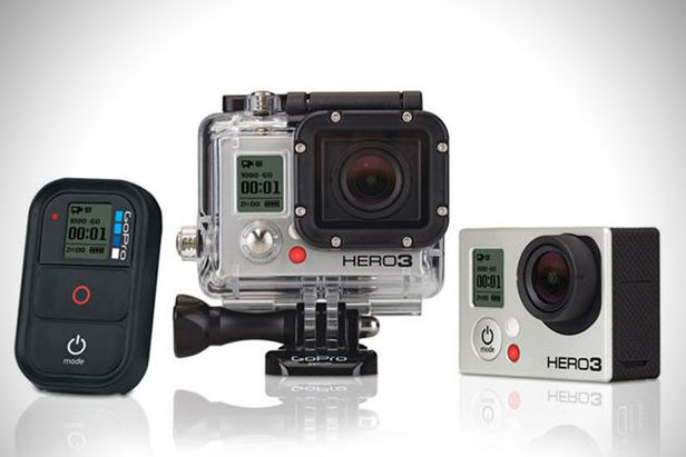 GoPro Hero3: Black Edition—The Hero3 Black Edition is GoPro's latest high-end camera. Featuring 4k resolution, it allows videographers to capture stunning images in rich detail. Tack on 1080p HD at 60 fps and a 12 megapixel camera and this is the only tool you'll need to shoot amazing video or photos on the mountain. The body itself is lighter and thinner than its predecessor and is WiFi compatible and will work with your smartphone. $399