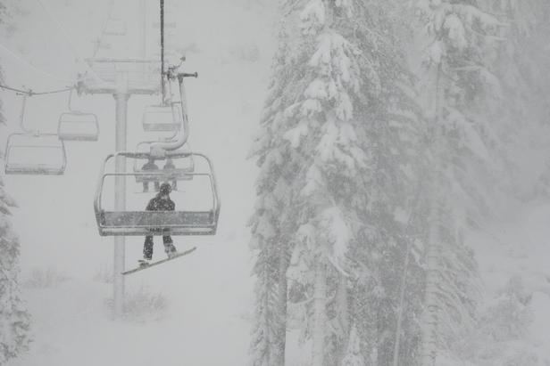 First Snow of Late November Storm Hits Sierra Nevada; Moving East- ©Sierra-at-Tahoe