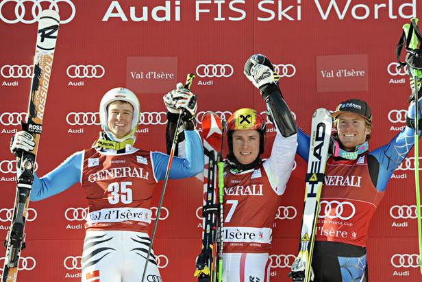 Podium Slalom géant Val d'Isère 2012