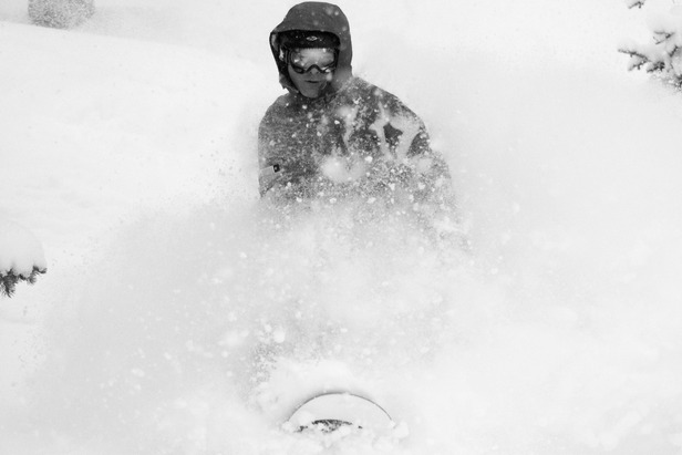Dan Darabond snowboarding at Wolf Creek, Dec. 15 2012 in 30-plus inches of storm snow.