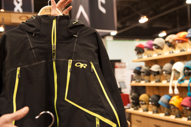 The Vanguard Jacket from Outdoor Research is a soft shell featuring GORE-TEX® and Recco technology. The easily accessible vent zips make it extremely breathable for those backcountry hikes.