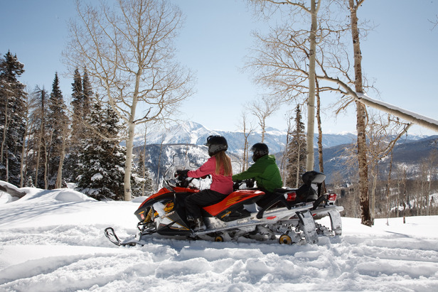 Snowmobile in Great Snow Conditions at Sunlight- ©Photo courtesy Sunlight Mountain Resort.