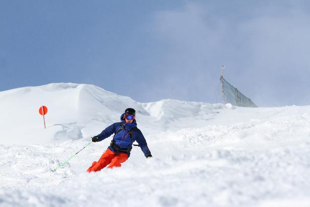 Unterwegs im Skigebiet Lermoos - Grubigstein