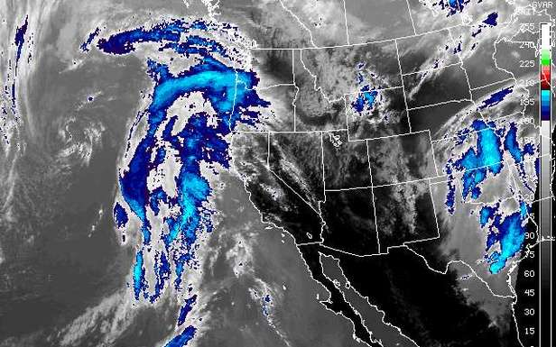 Storms set to impact the Western United States.