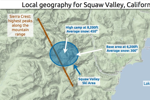 Learn how to predict snowfall totals at Squaw Valley.  - © OpenSnow.com