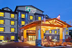 The Holiday Inn Express & Suites, Comox Valley at dusk
