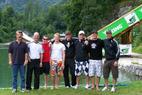 DSV Ski Cross Team trainierte auf Wasserschanze in Oberaudorf - ©Wolfgang Schmidt