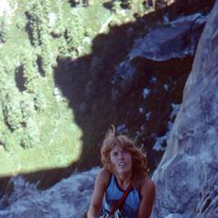 Lynn Hill 1977 am Half Dome - ©Charlie Row