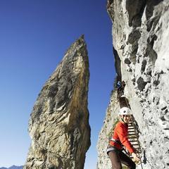 Impressionen vom Klettersteig Flims - © Weisse Arena Gruppe