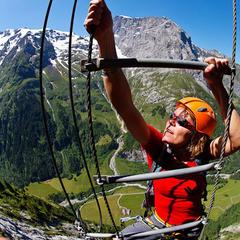 Klettersteig Fuerenwand in Engelberg - © Iris Kürschner