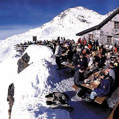 Horská restaurace ve Verbier