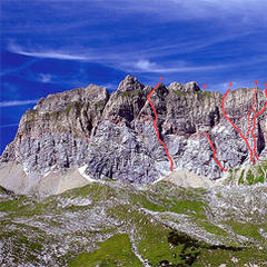 die rote wand 2704m am arlberg 39 herbstgold 39 bergleben. Black Bedroom Furniture Sets. Home Design Ideas