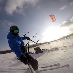 Víkendový snowkiting pri Kremnici [VIDEO] - ©Go Kiting