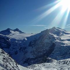 Widok ze szczytu lodowca Presena - © Tomasz Wojciechowski