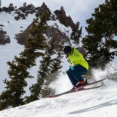 Kicking off the day, ski test - © Liam Doran