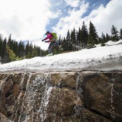 Summer skiing snowmelt - © Liam Doran